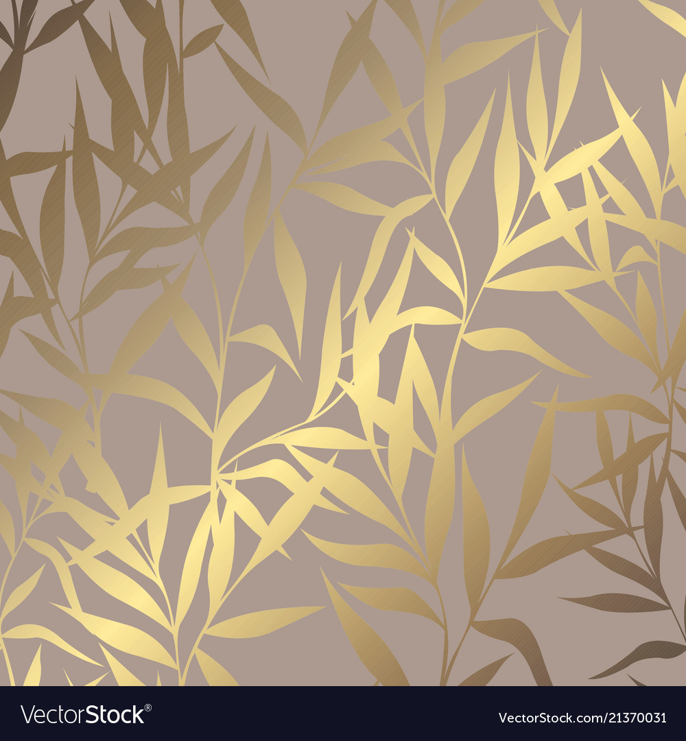 Luxury golden pattern with branches on a brown