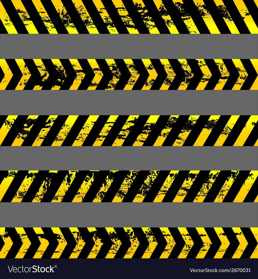 Set grunge yellow caution tapes