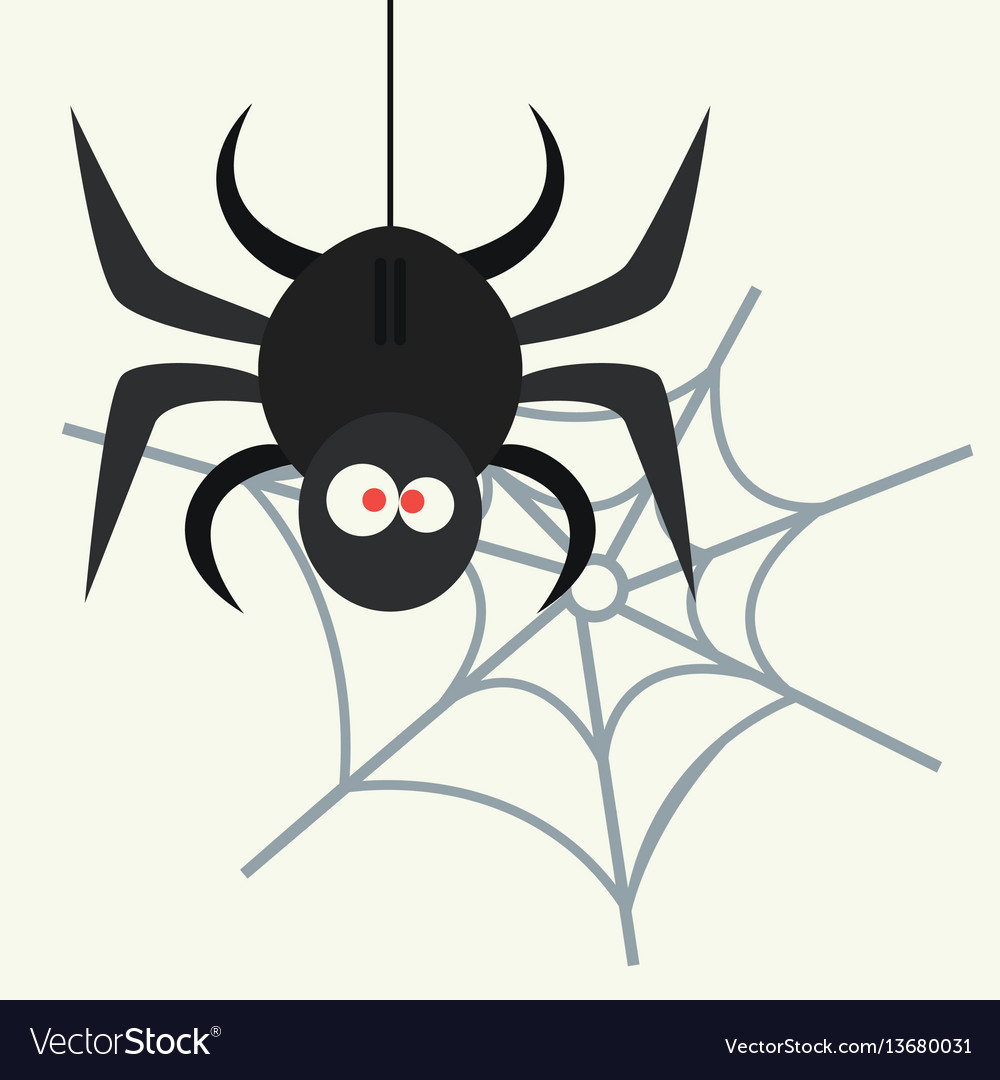 Spider silhouette arachnid fear graphic flat scary