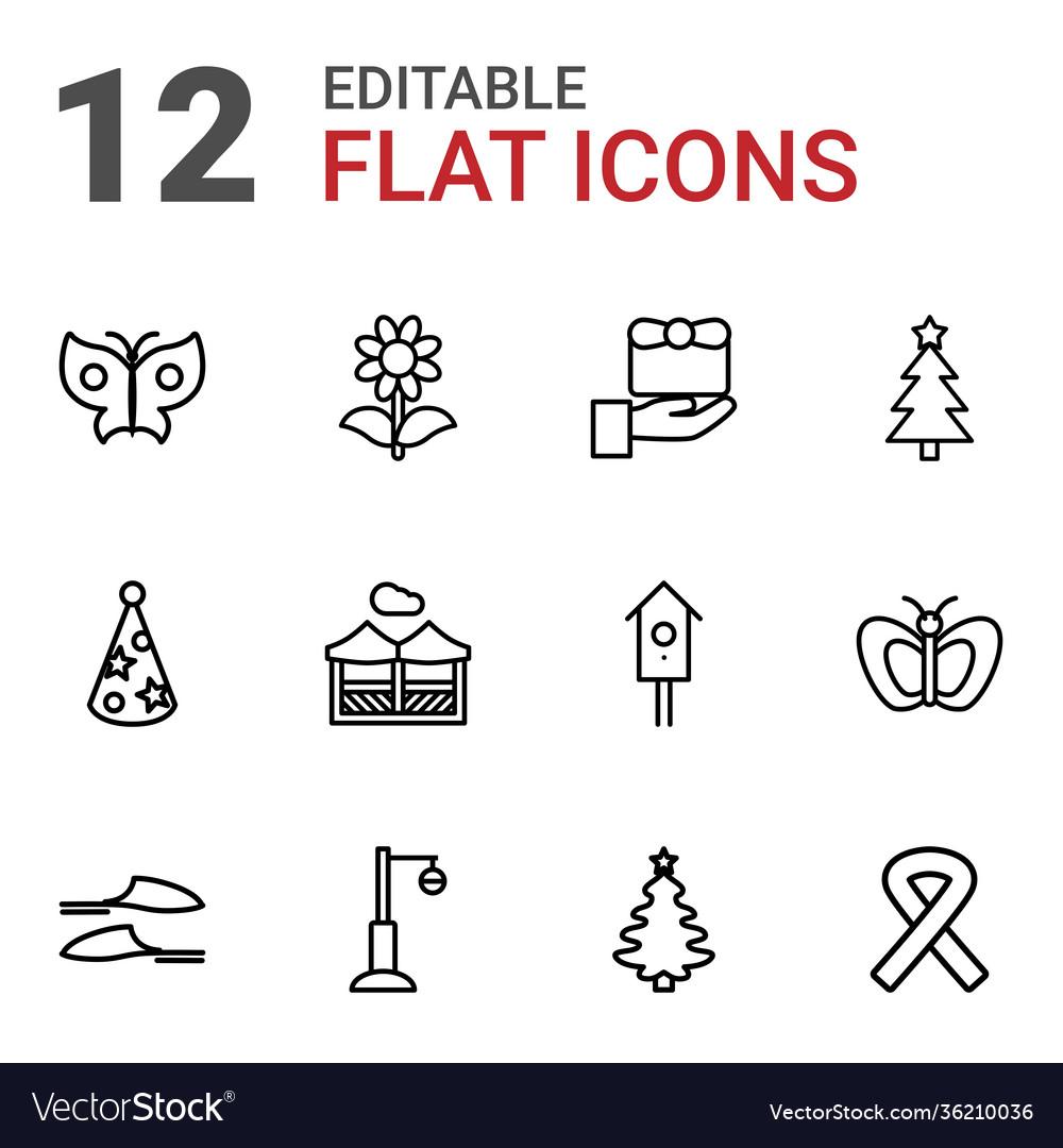 12 decorative icons