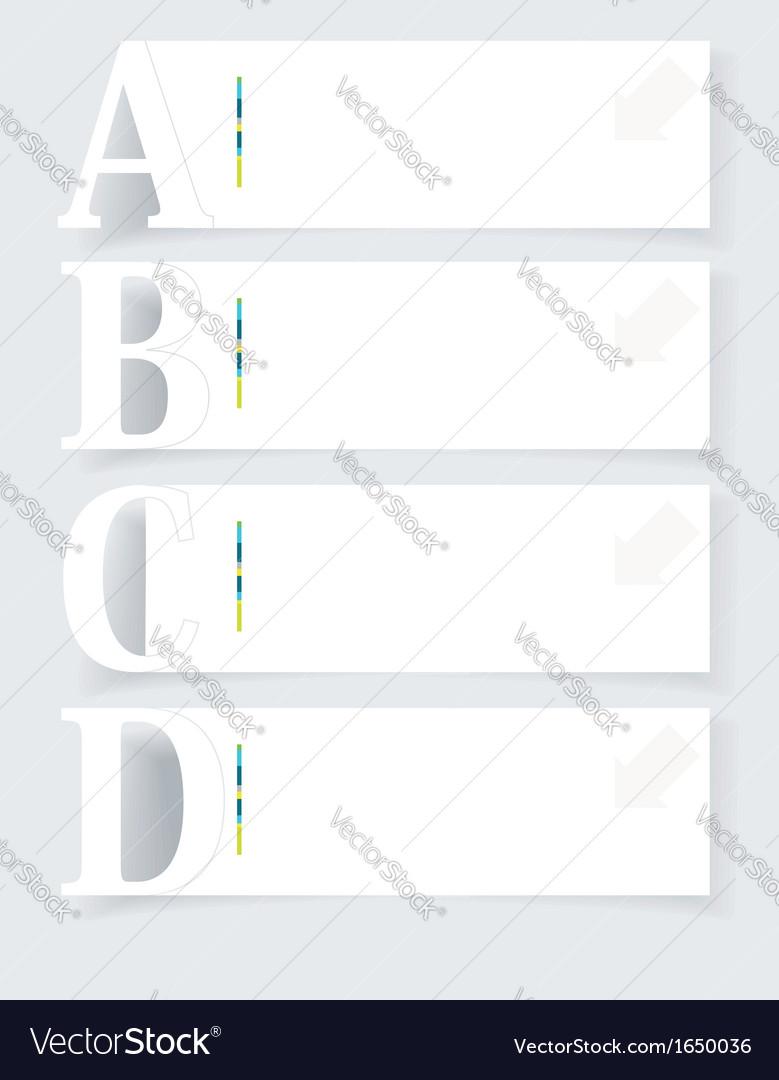 Abstract infographics Option Banners Set vector image