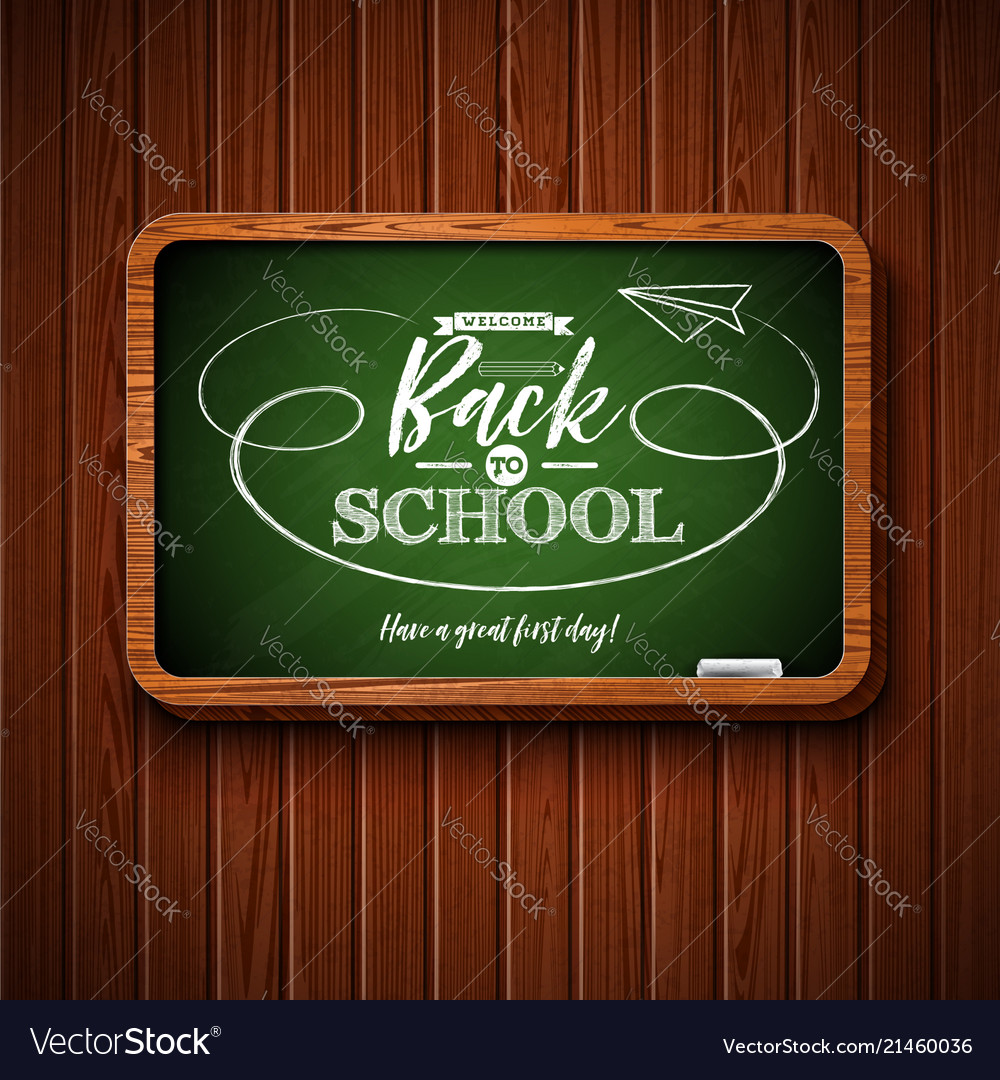 Back to school design with chalkboard and