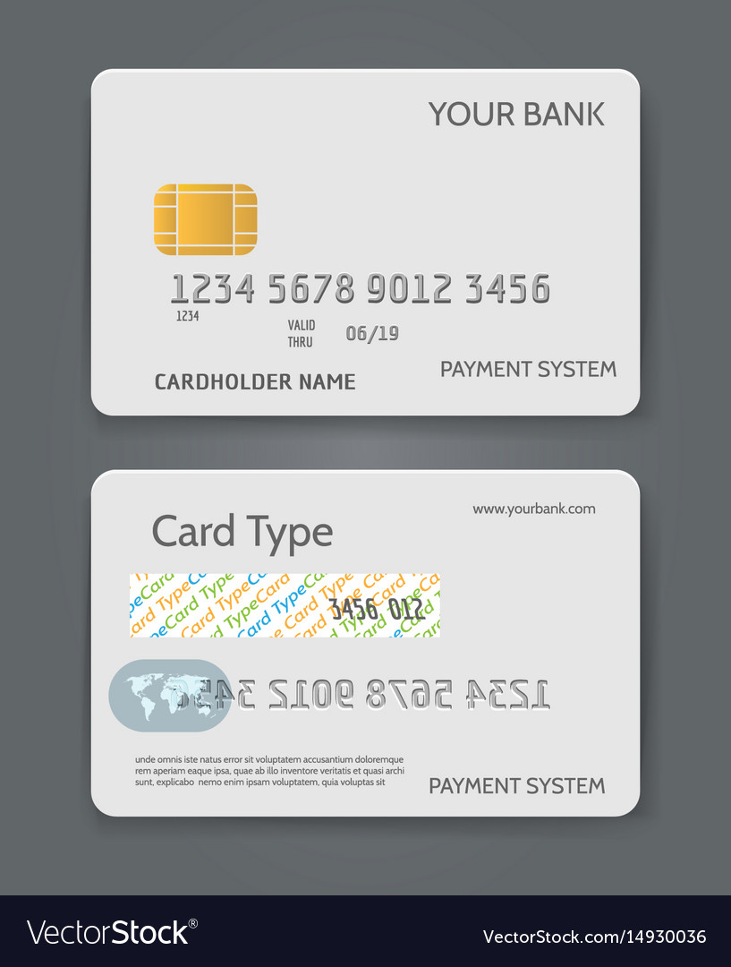 Bank Credit Card White Template Royalty Free