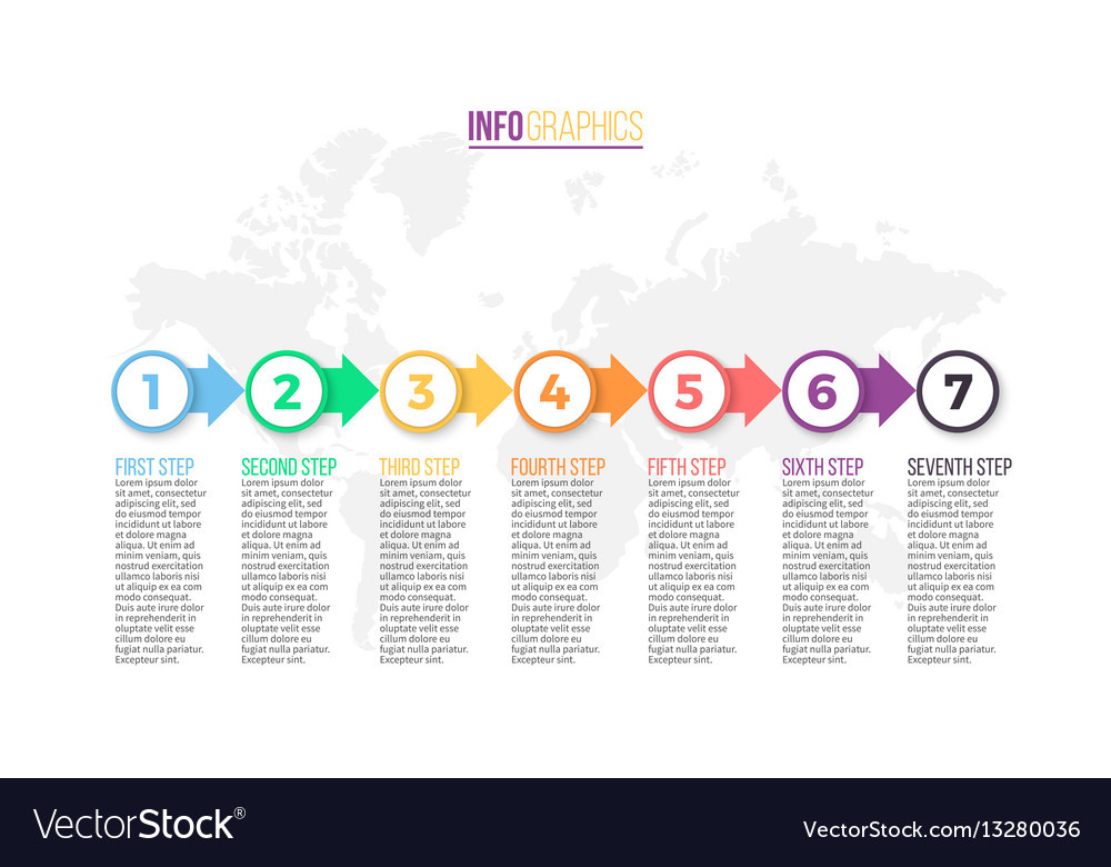 Business infographics presentation slide chart vector image