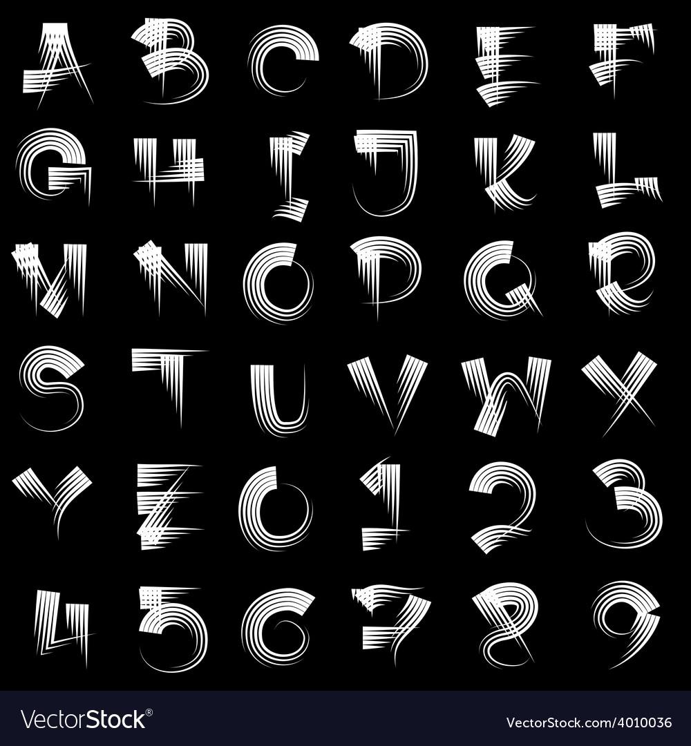 Drawn Alphabet