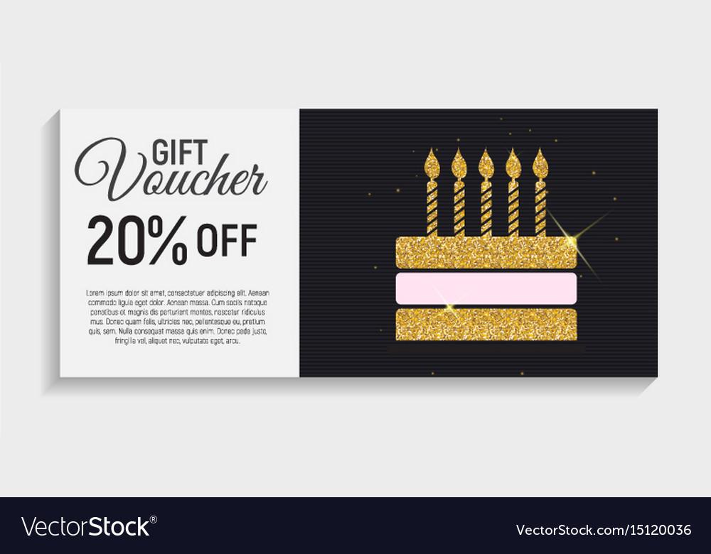 Gift voucher template background