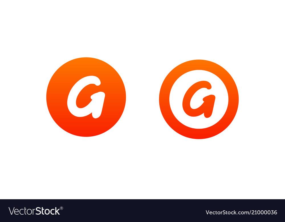 Letter g logo design in orange color