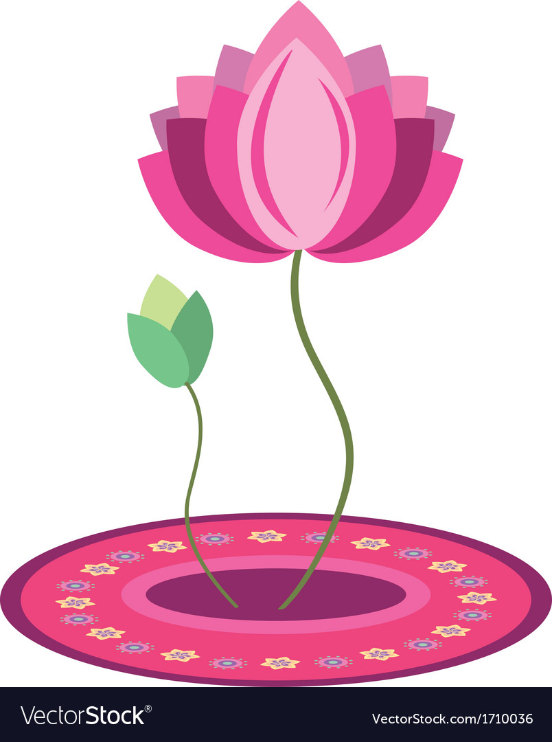 Lotus flower design royalty free vector image vectorstock lotus flower design vector image izmirmasajfo
