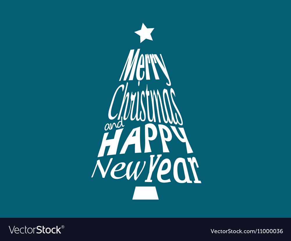 Merry Christmas and Happy New Year greetings postc vector image