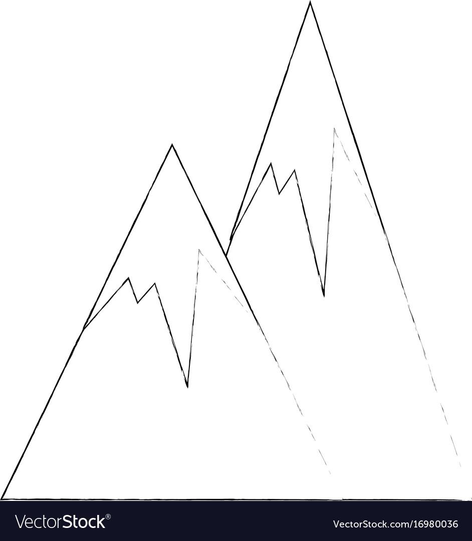 Peak mountains landscape