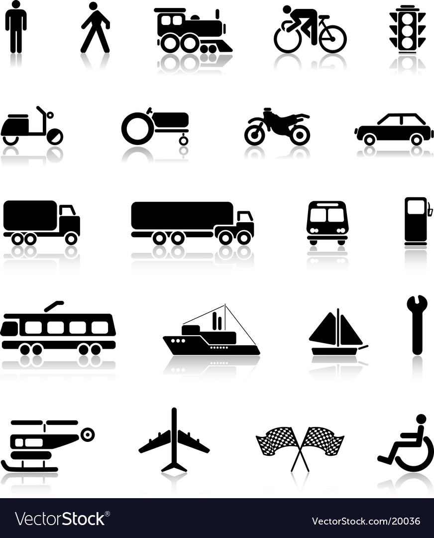 Silhouettes of transport