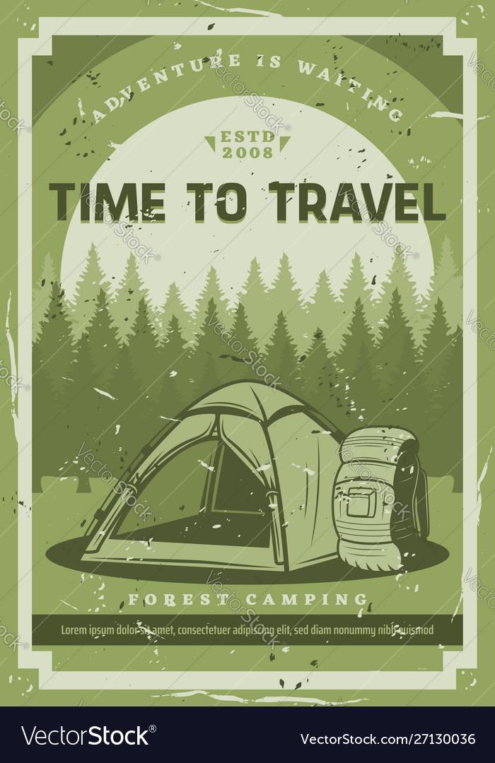 Trip wild nature camping adventure