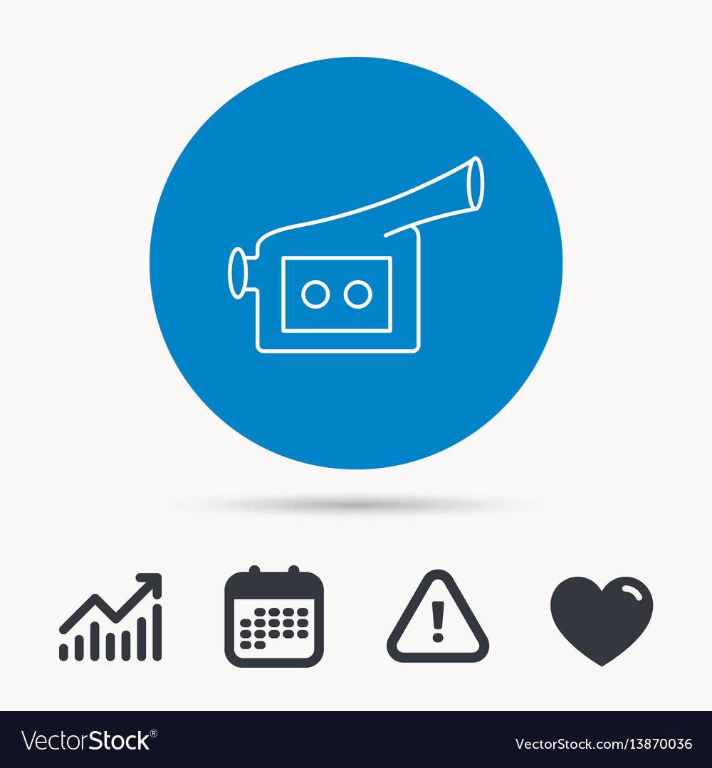 Video camera icon retro cinema sign