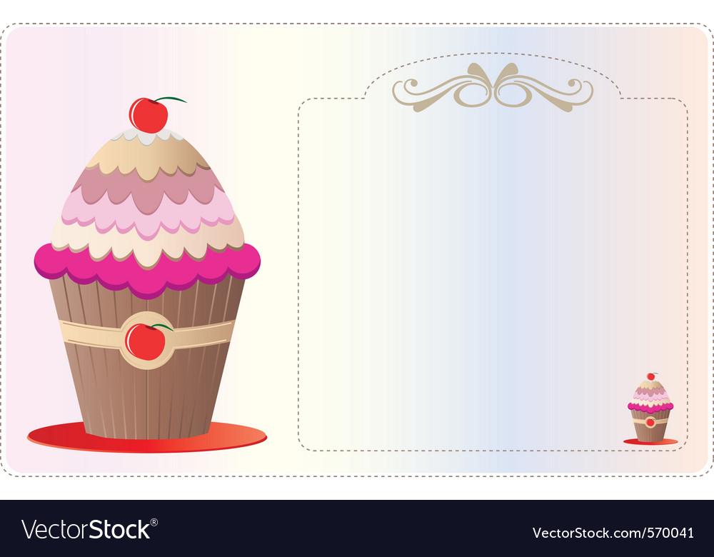 cupcake invitation royalty free vector image vectorstock