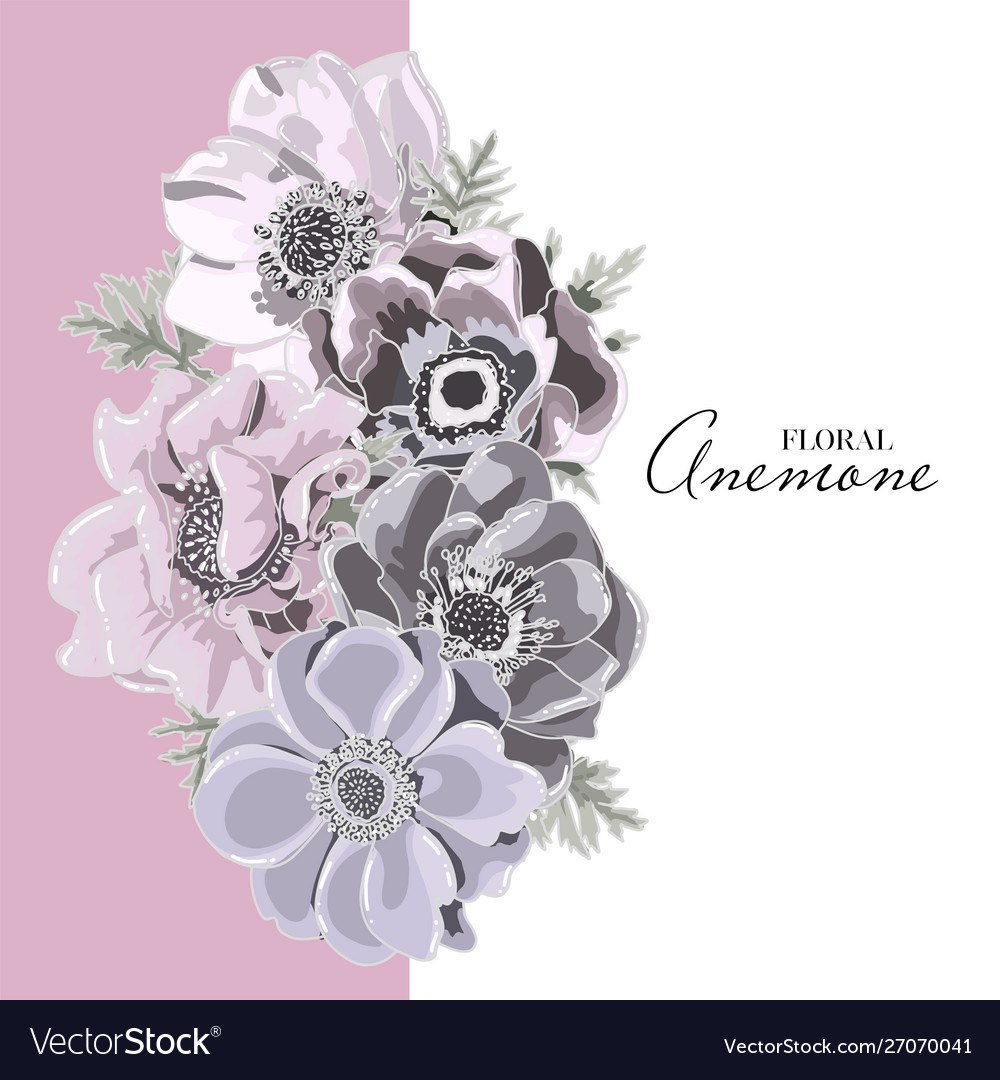 Floral card design garden flower lavender