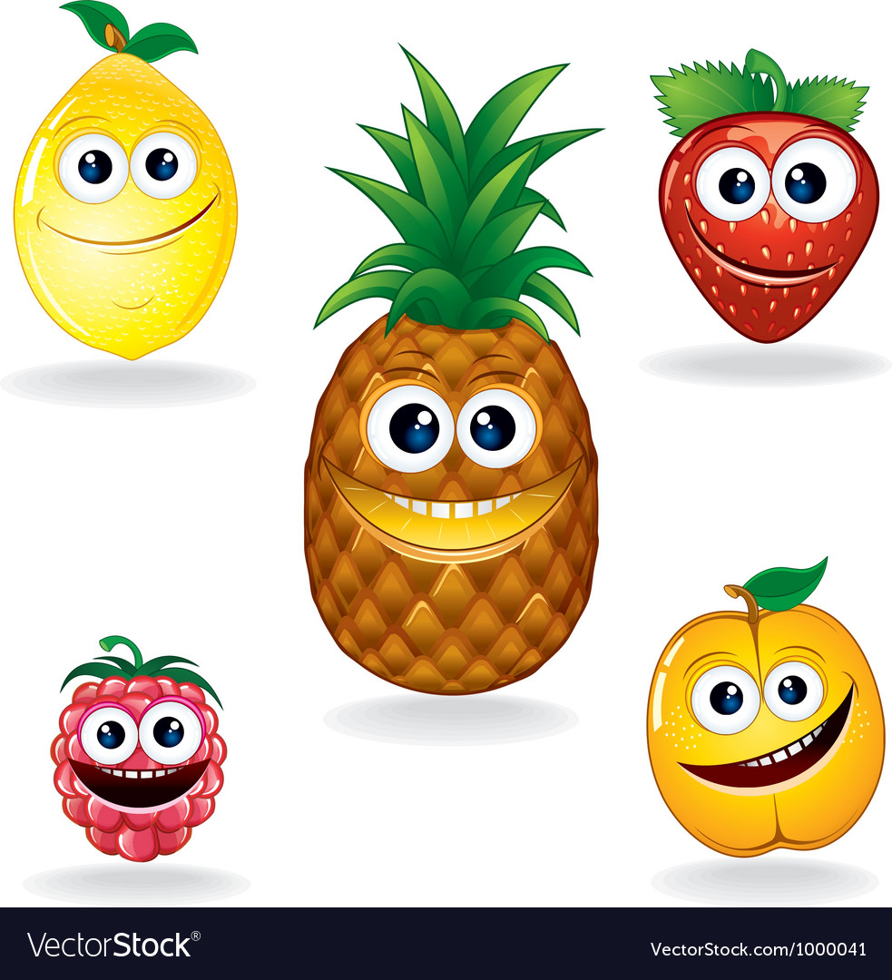 Fruit Cartoons vector image