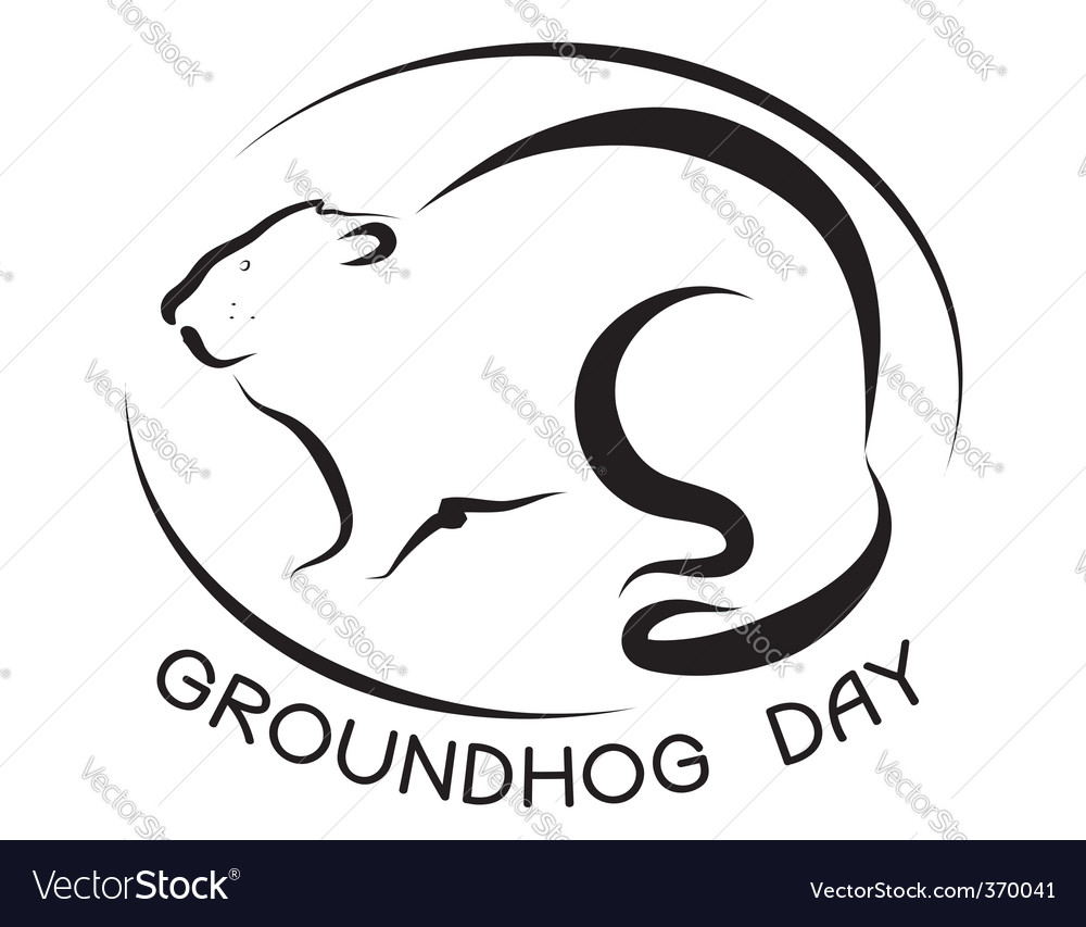 Ground hog day vector image