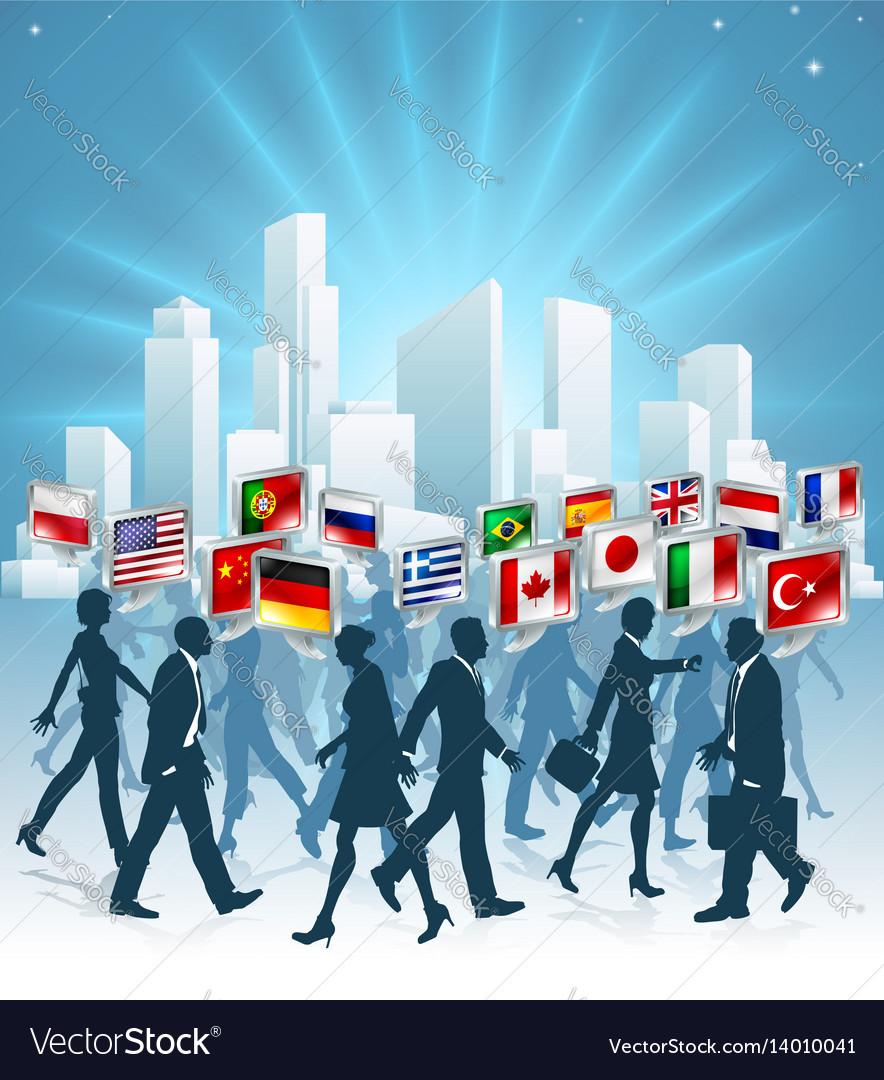 International business concept vector image