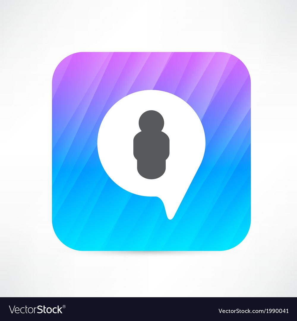 Man in the bubble speech icon