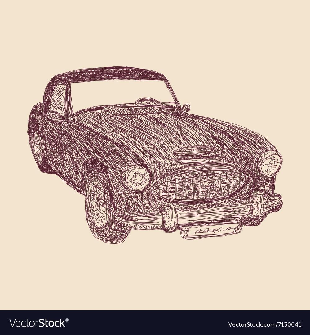 Retro car sketch