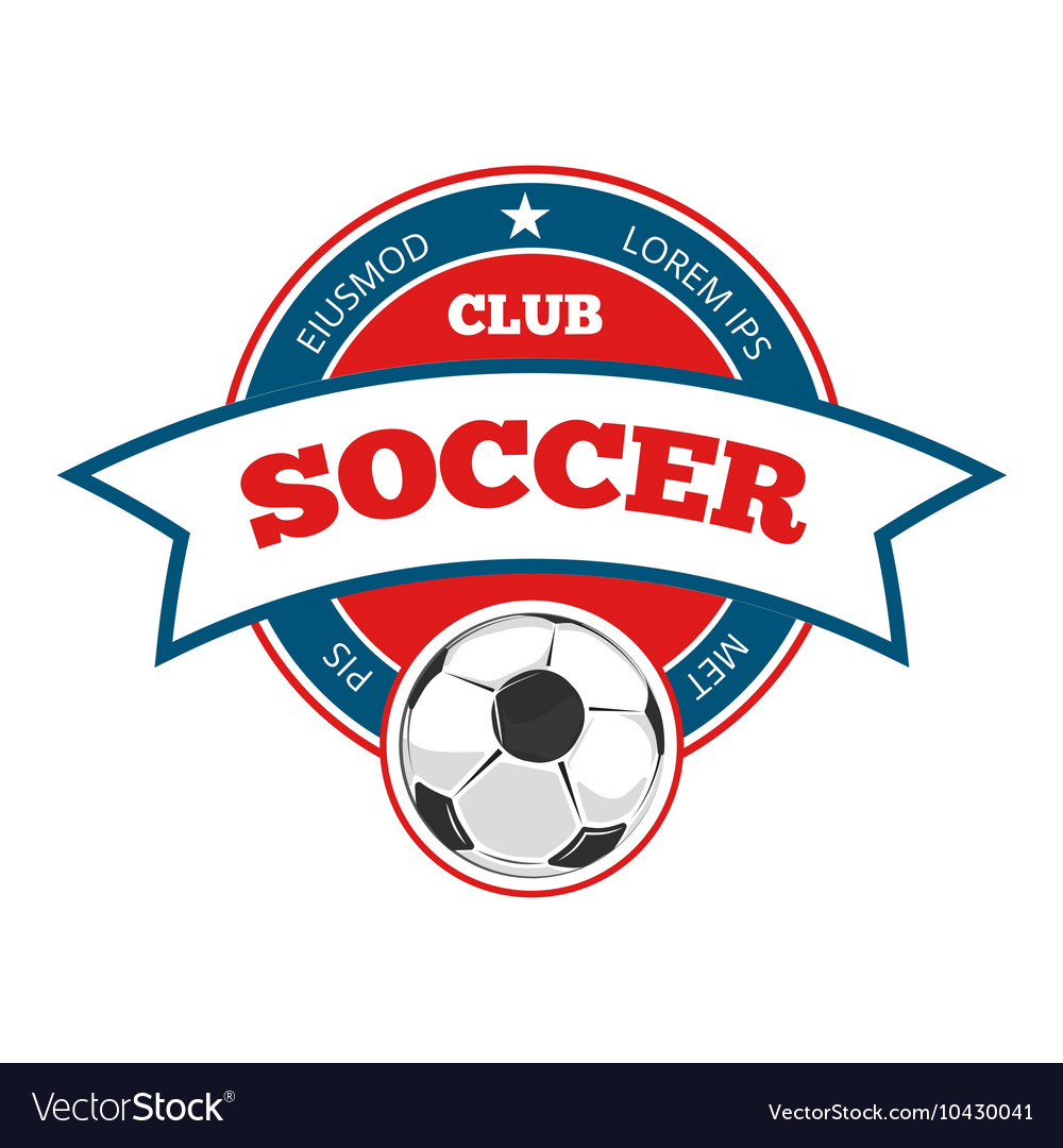 Round soccer logo template isolated on