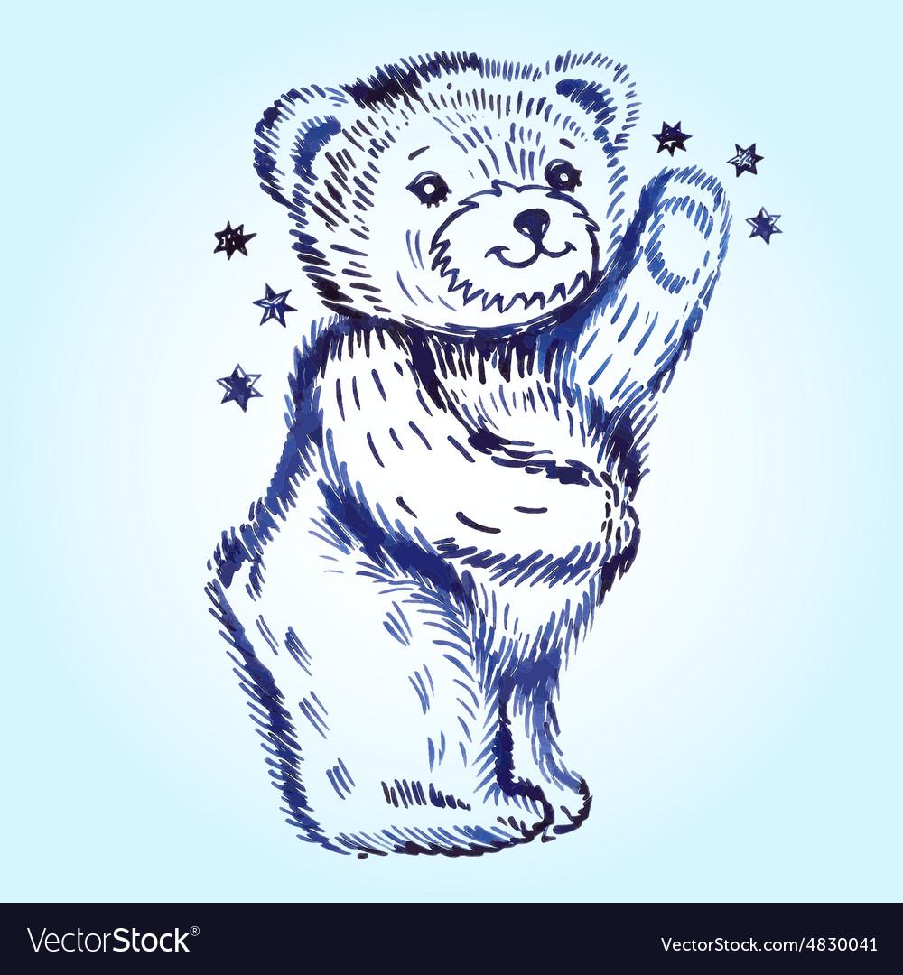 standing bear royalty free vector image vectorstock