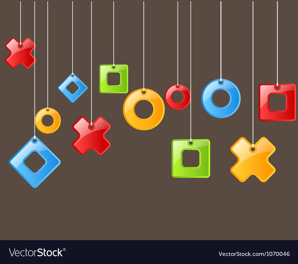 Abstract figures on rope vector image