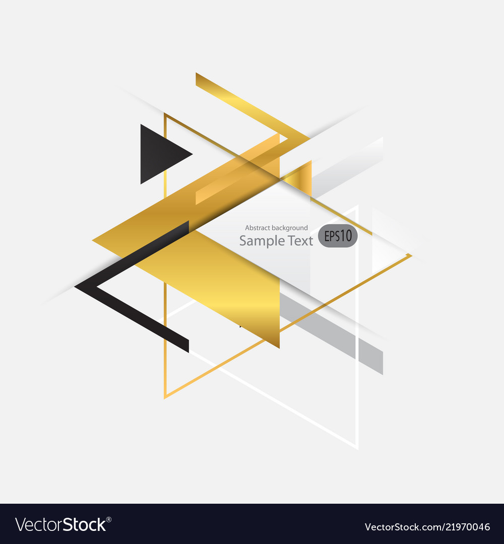 Abstract gold geometric background with triangles