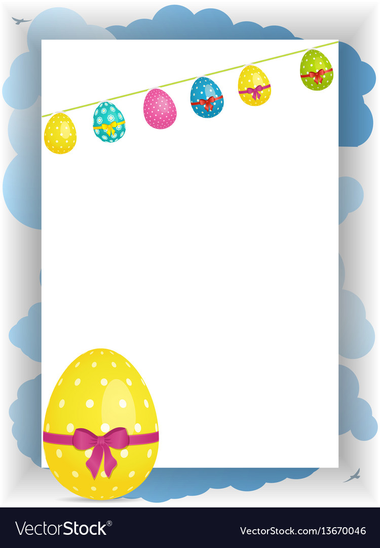 Easter portrait panel copy space with bunting and