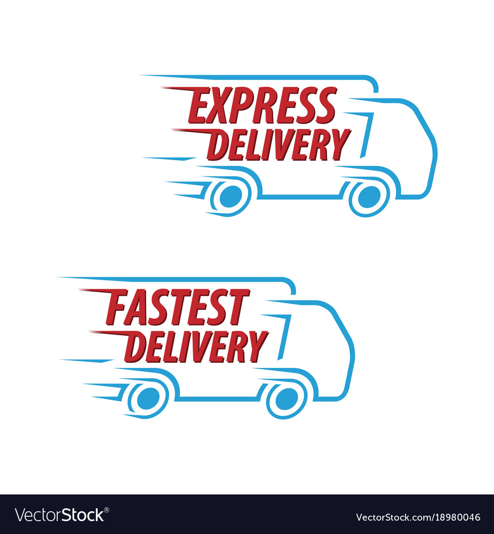 Express delivery fastest delivery icon set