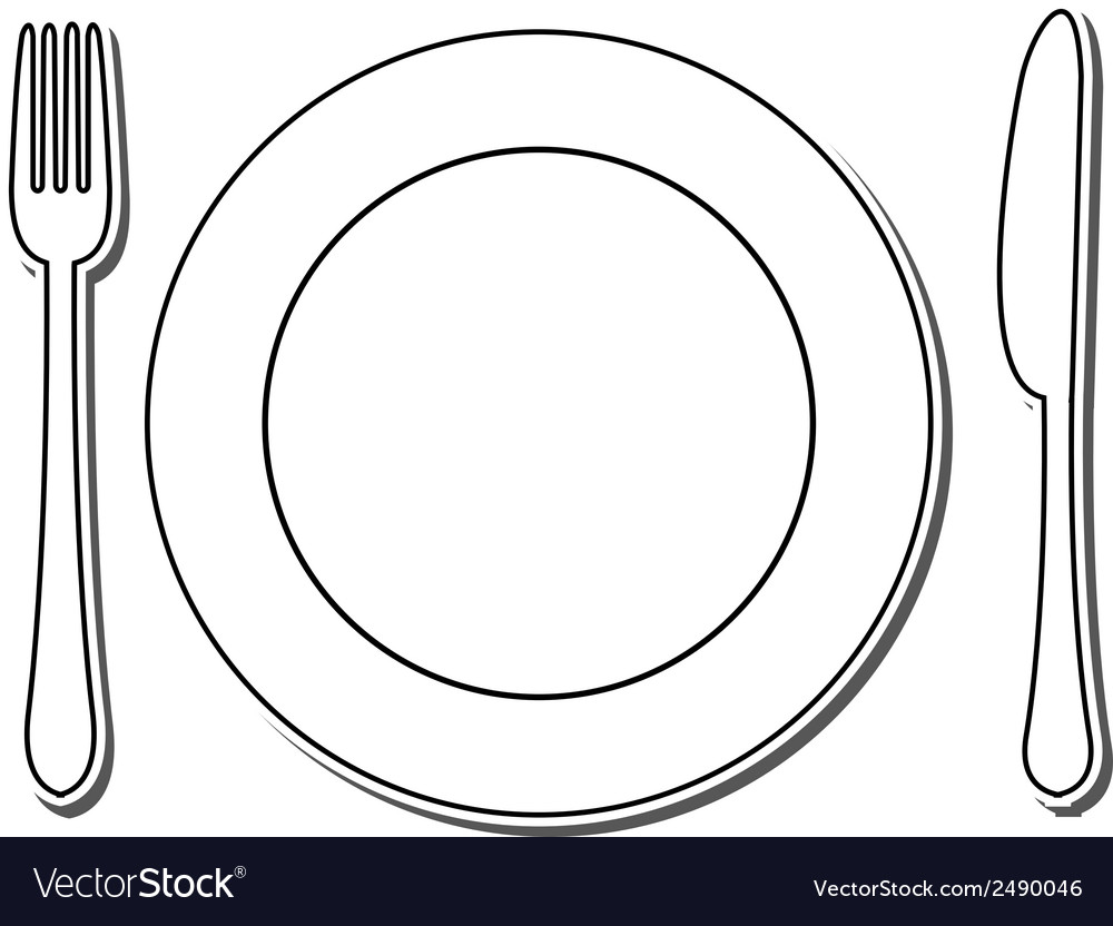 Icon of plate fork and knife