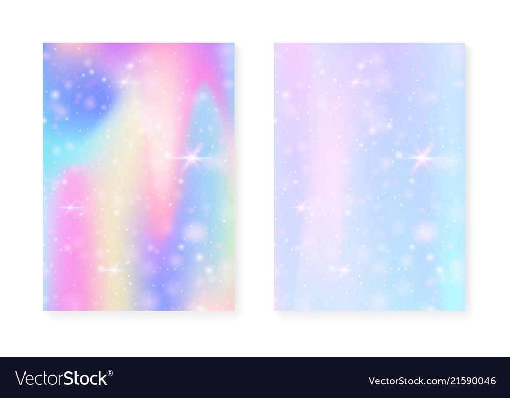 Magic background with princess rainbow gradient