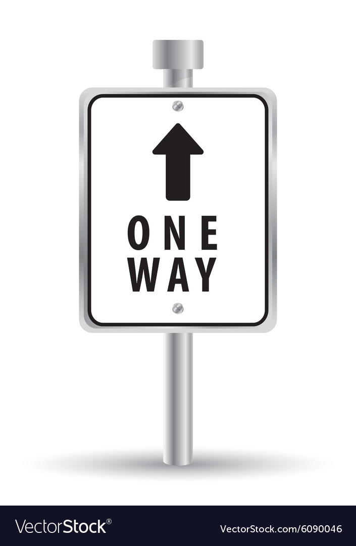 One way road sign advertising design