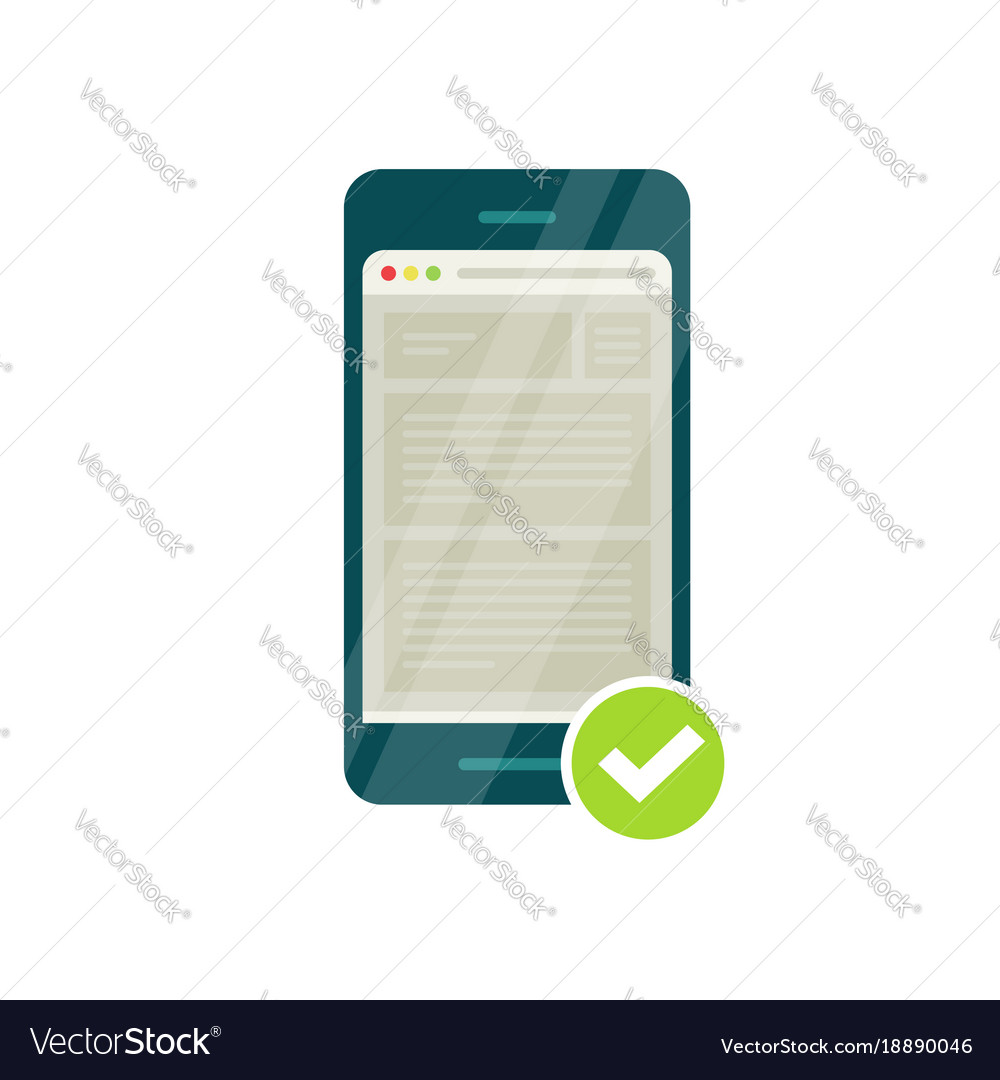 Smartphone with mobile phone browser and green