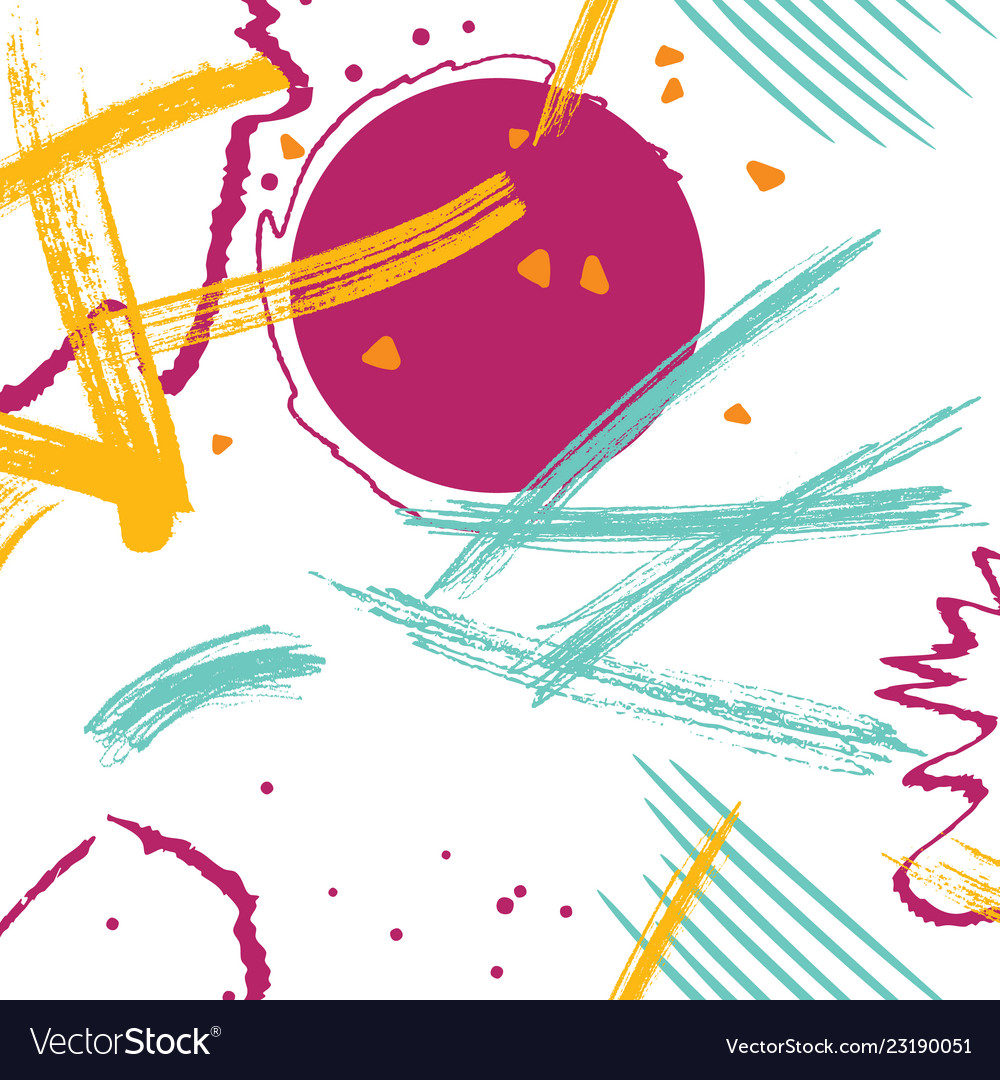 Abstract online bright grunge hand drawn
