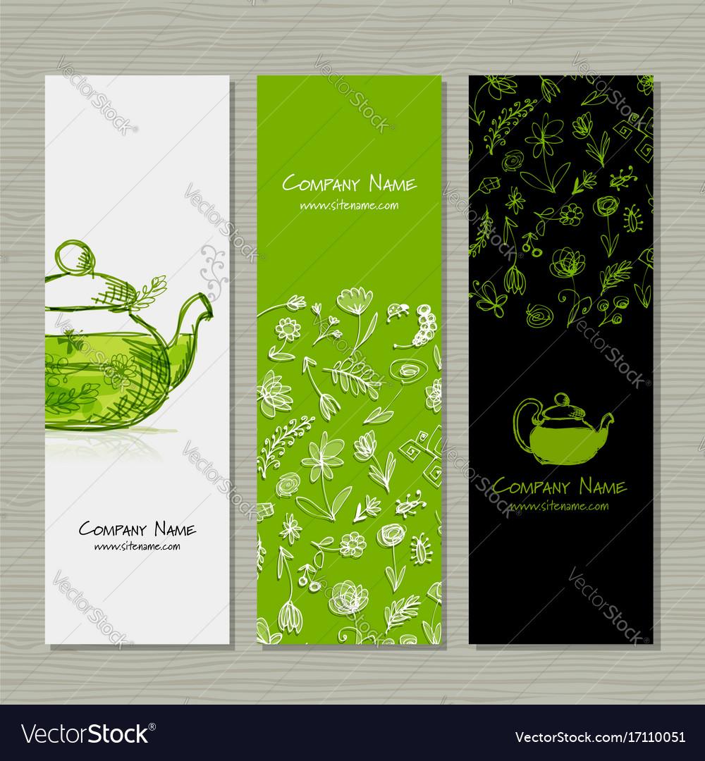 Banners Design Herbal Tea Royalty Free Vector Image