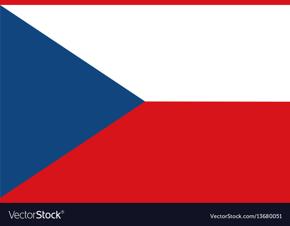 Flag of czech republic and former czechoslovakia