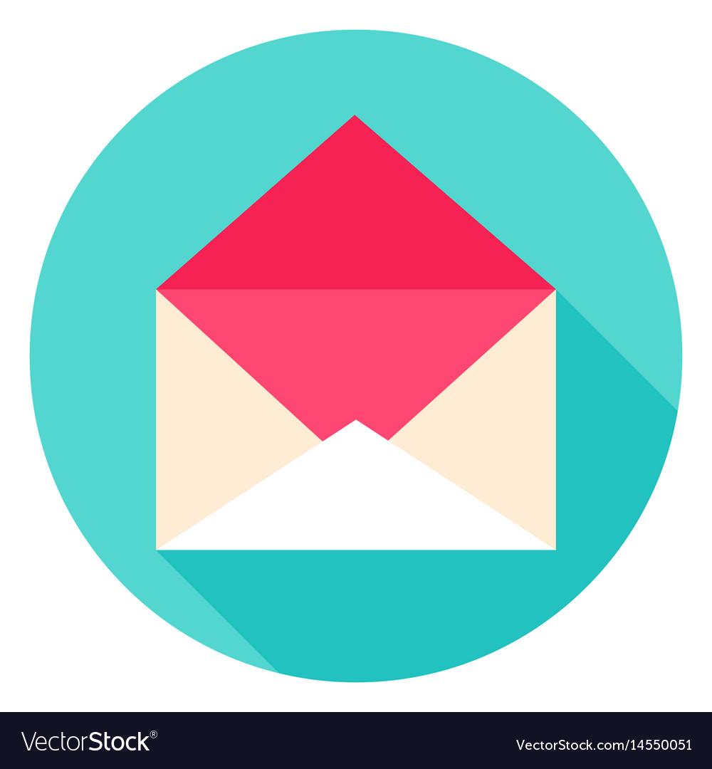 Open envelope circle icon