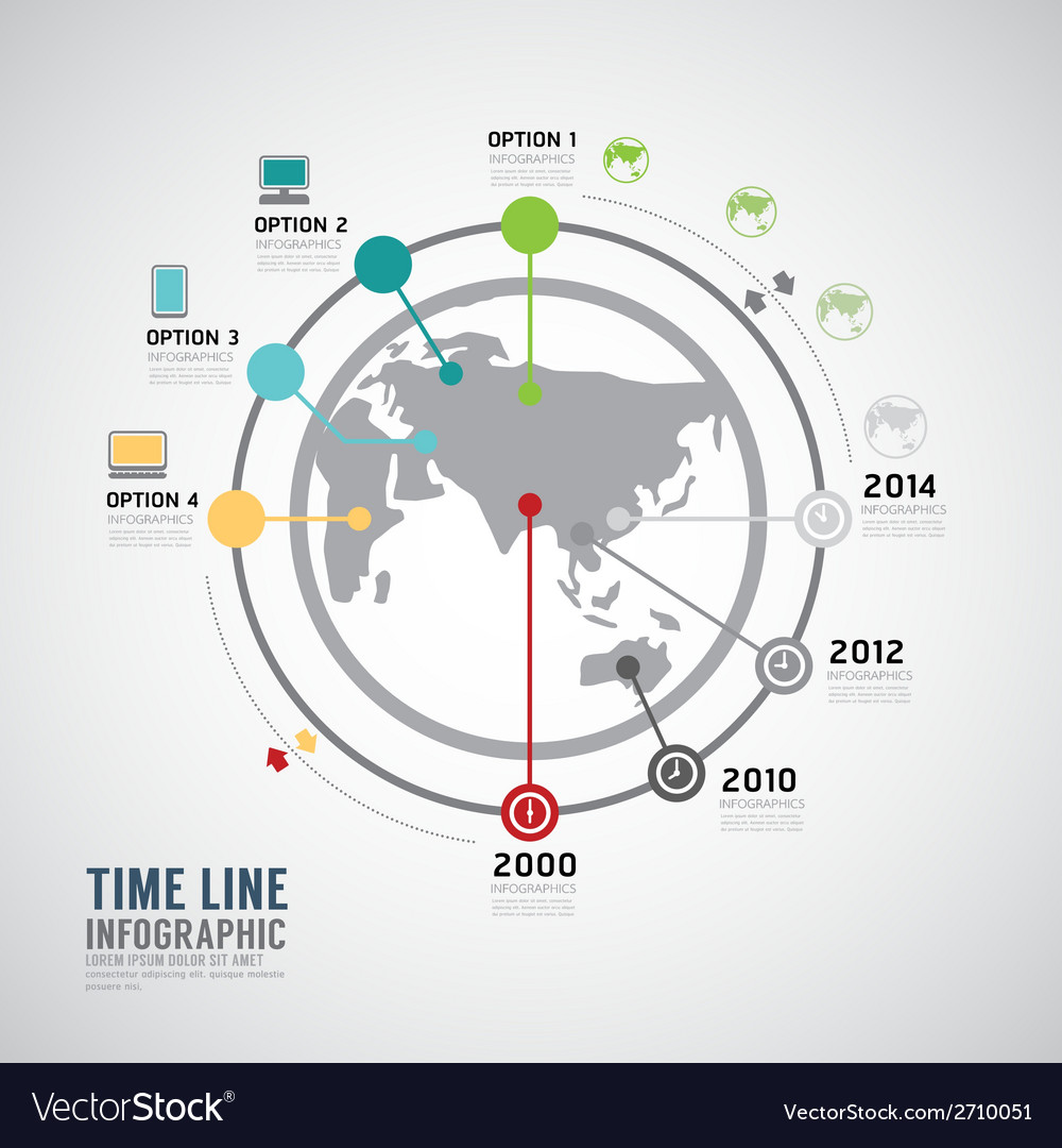 Timeline Infographic world design template