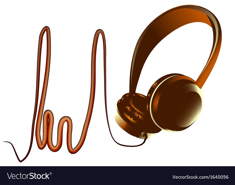 abstract headphones royalty free vector image - vectorstock
