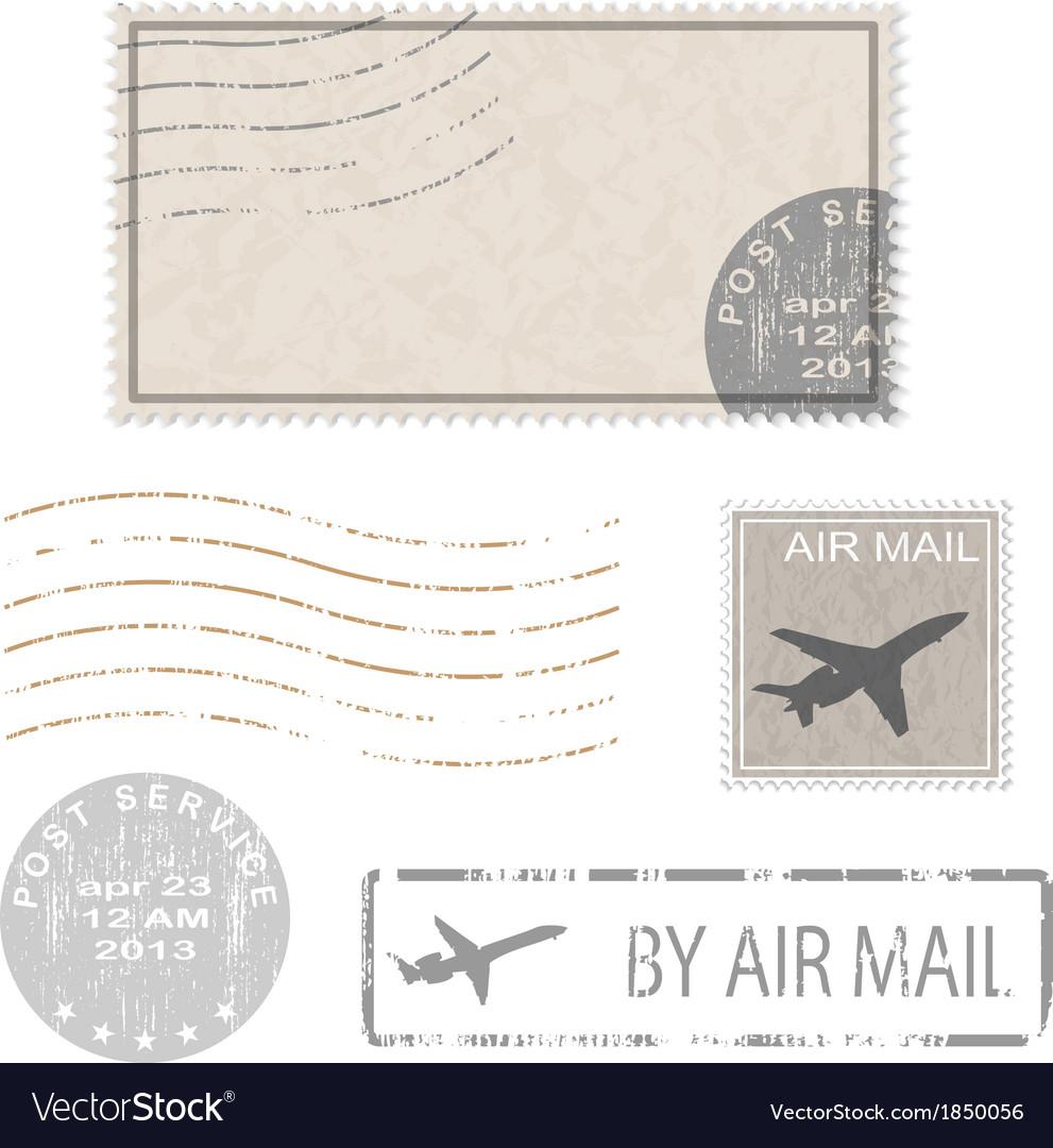 Air mail stam