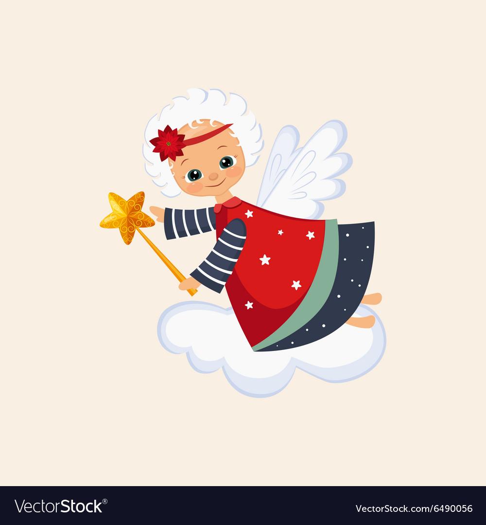 Christmas Angel with a Magic Wand