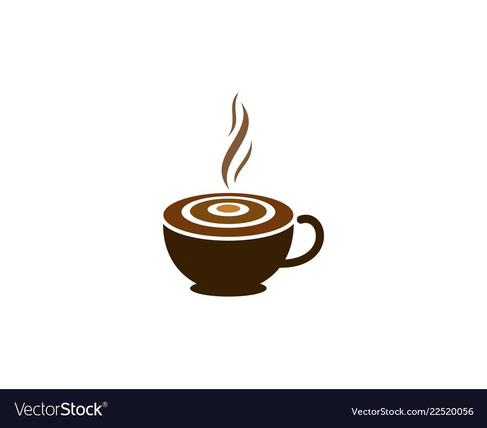 Coffee target logo icon design