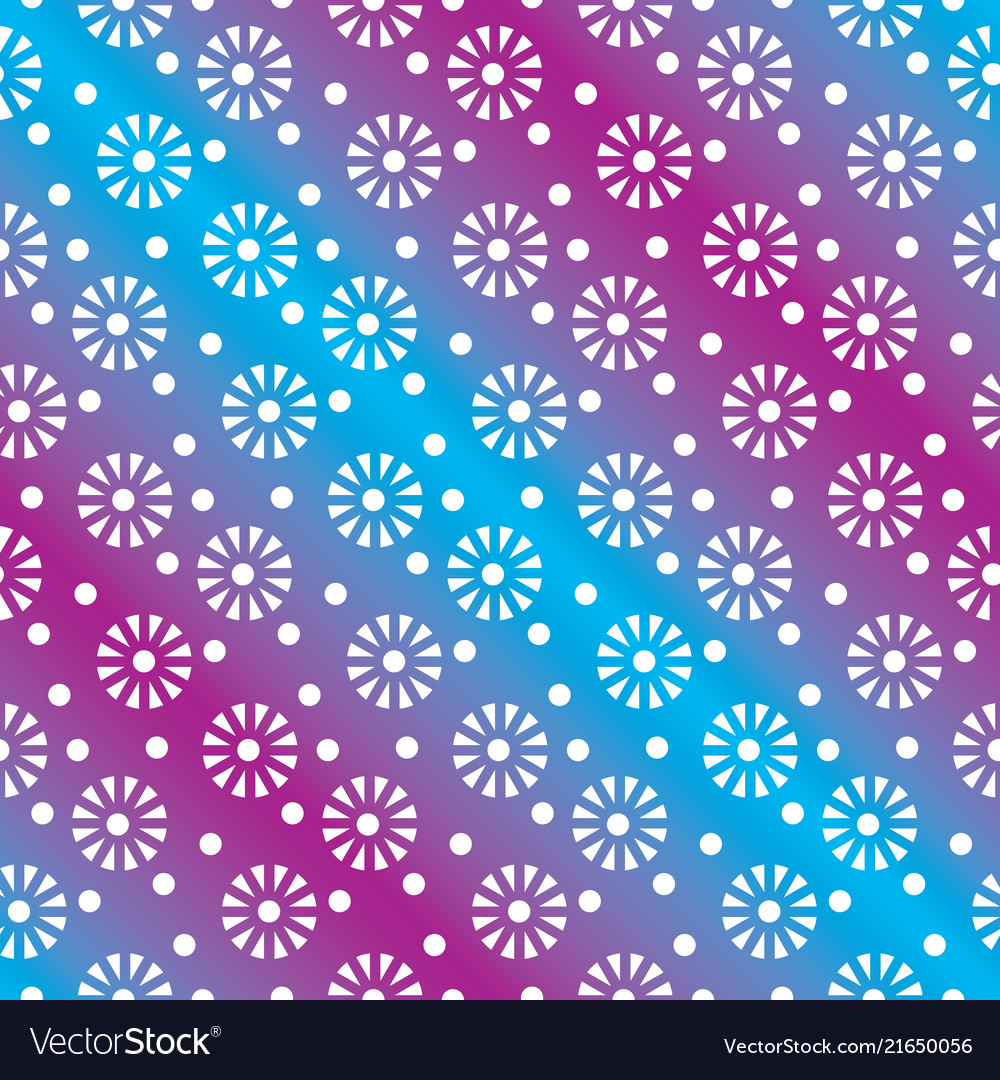 Floral or snowflakes geometric seamless pattern