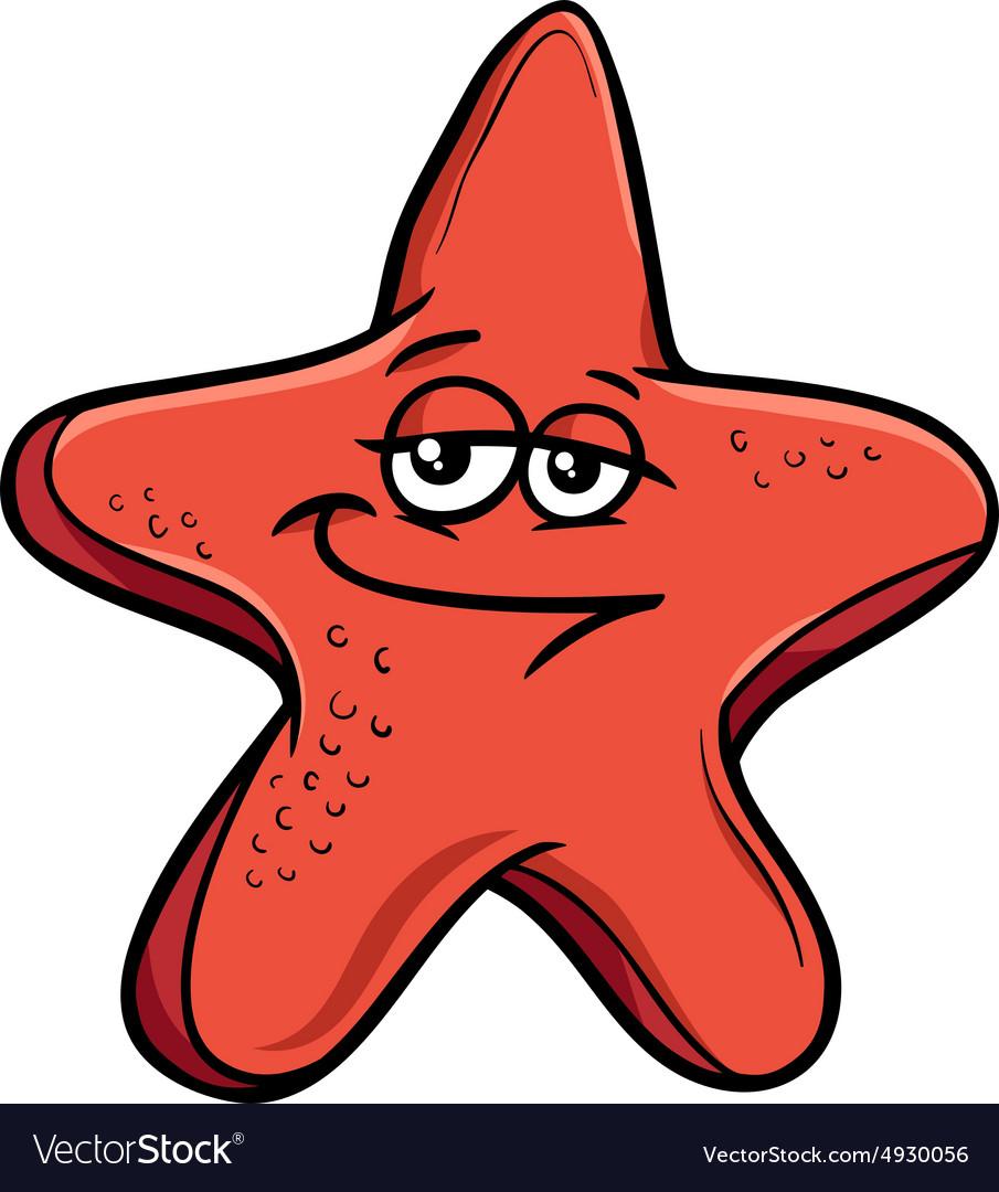 Sea starfish cartoon Royalty Free Vector Image