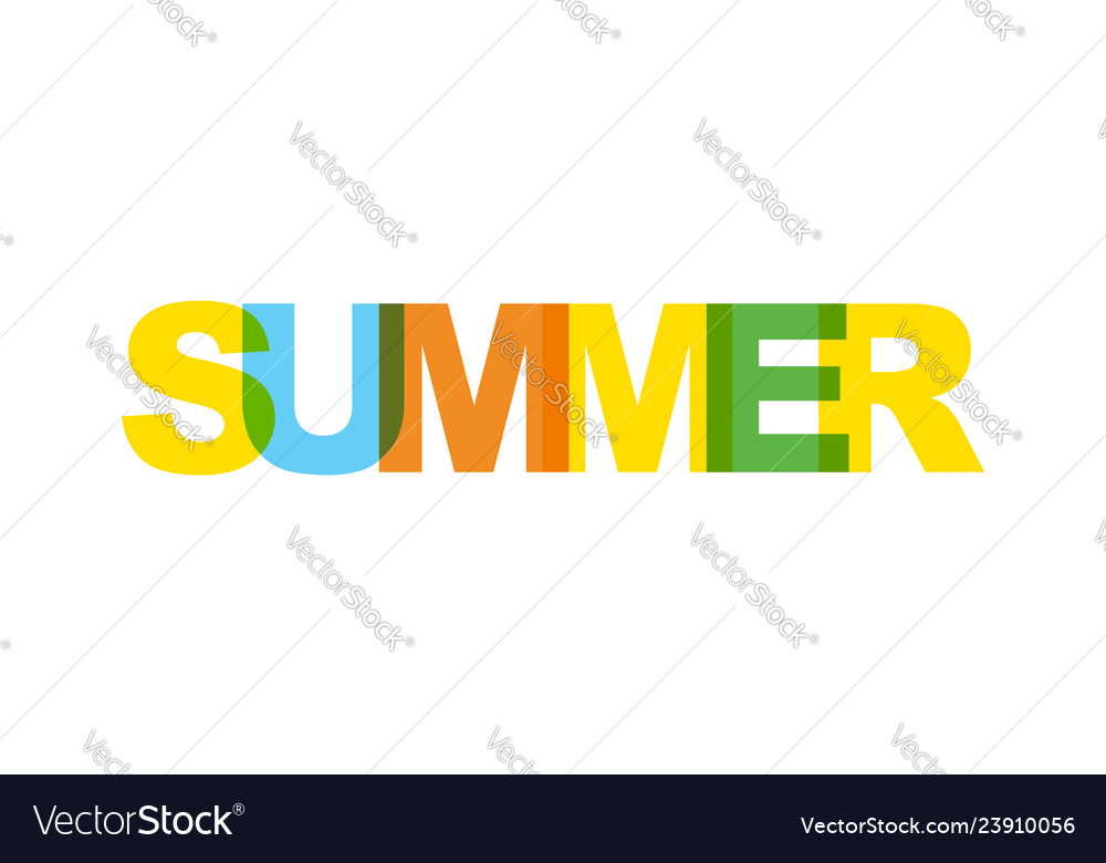 Summer phrase overlap color no transparency