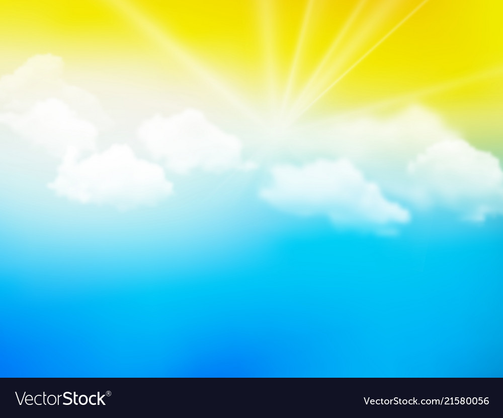 Sunshine sky abstract yellow blue clouds