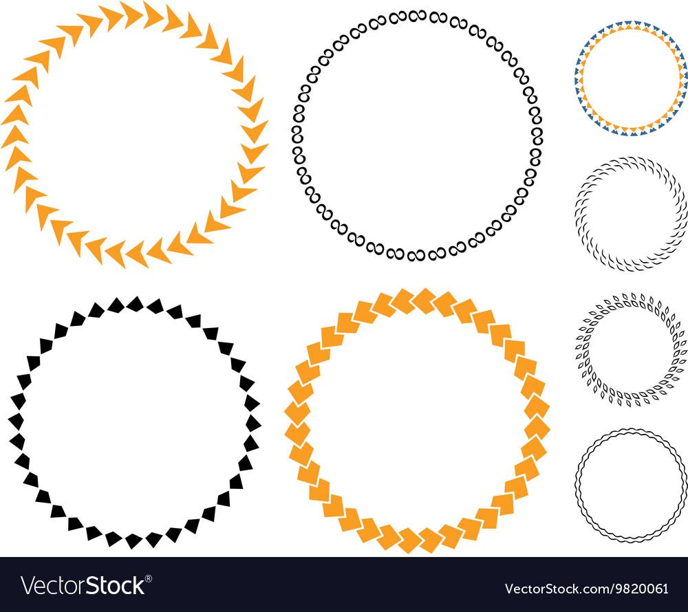 Circle template sticker
