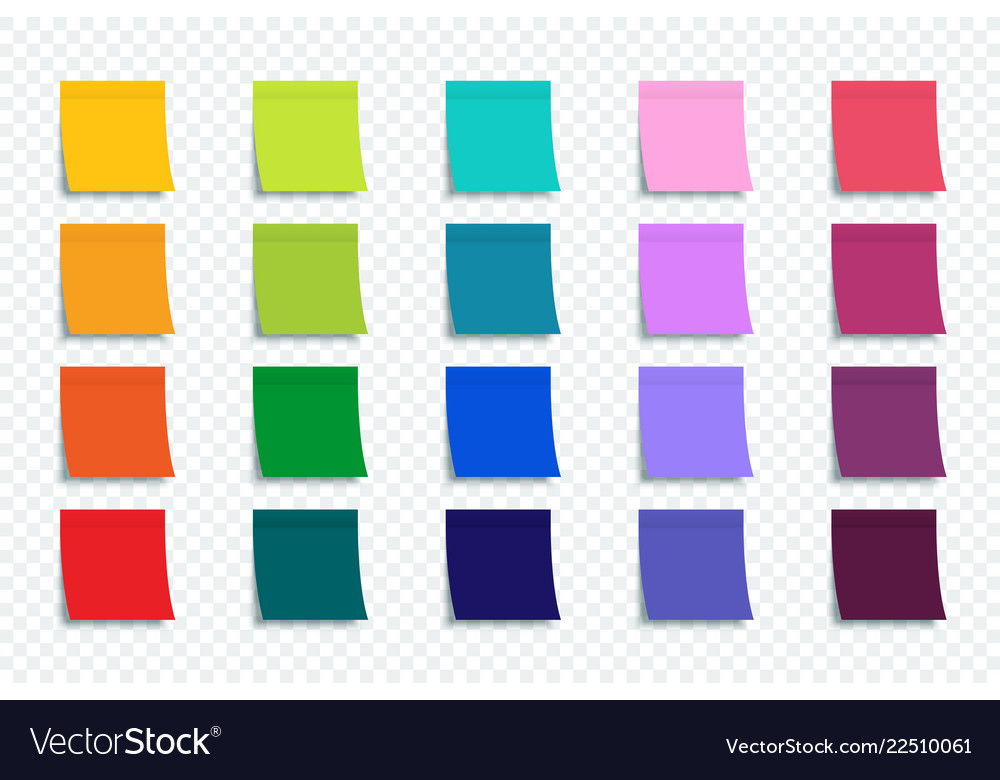 Colorful stickers set isolated on transparent