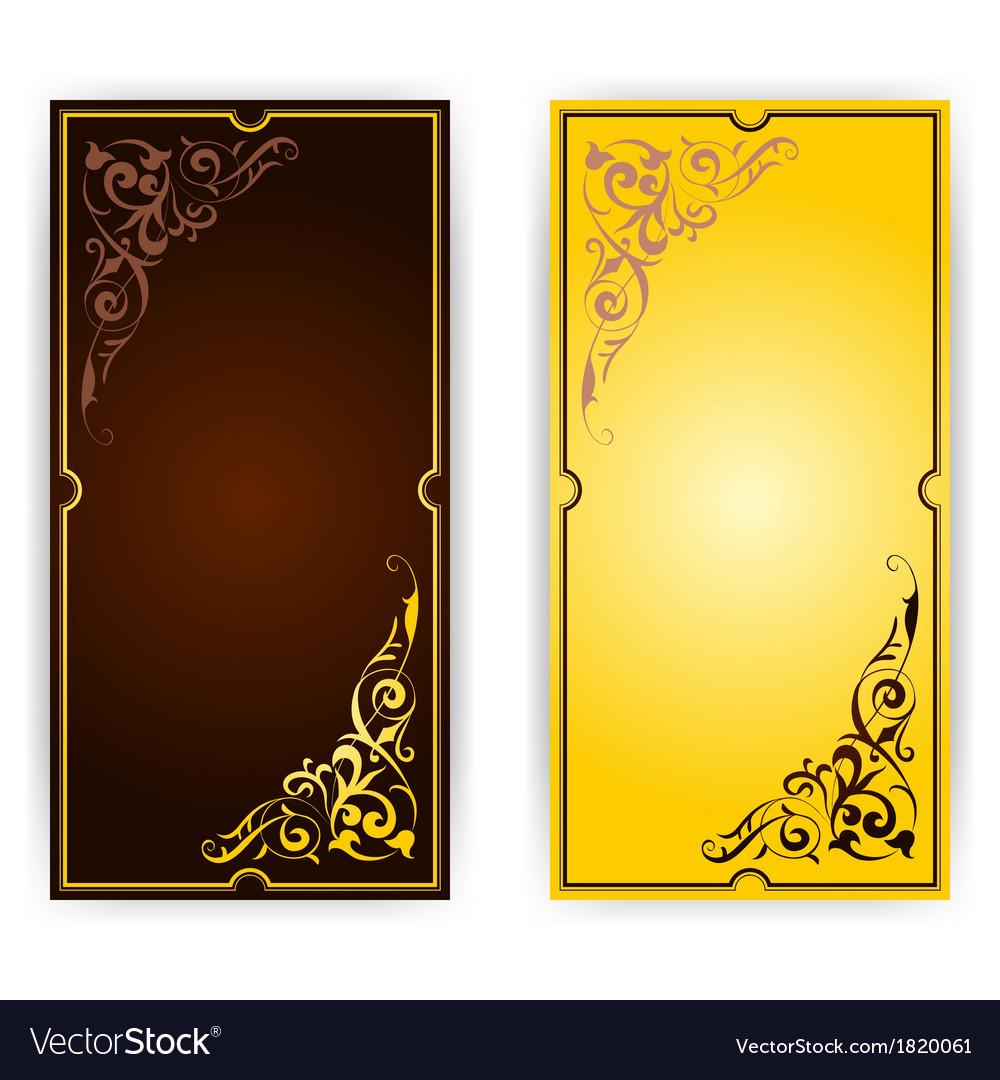 Elegant template for greeting card invitation